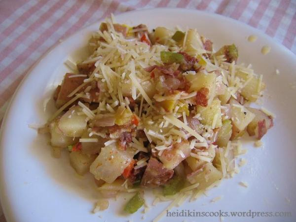 Red Potato Salad with Bacon_072009