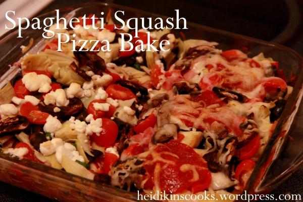 Spaghetti Squash Pizza Bake_heidikins cooks_Feb 2013
