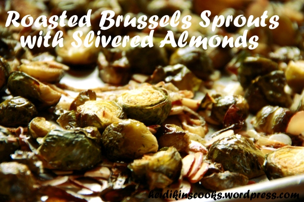 Brussels Sprouts with Slivered Almonds_heidikinscooks_March 2013