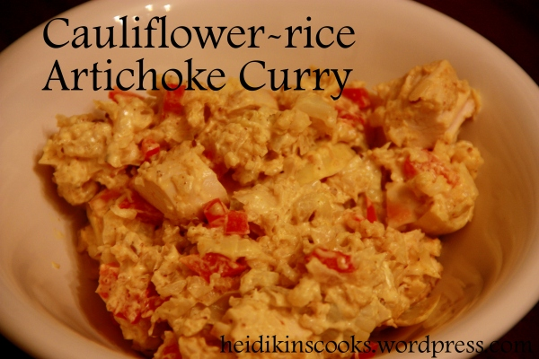 Cauliflower-rice Artichoke Curry_heidikinscooks_March 2013