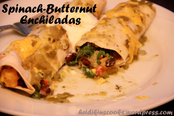 Spinach Butternut Enchiladas_heidikinscooks_May 2013