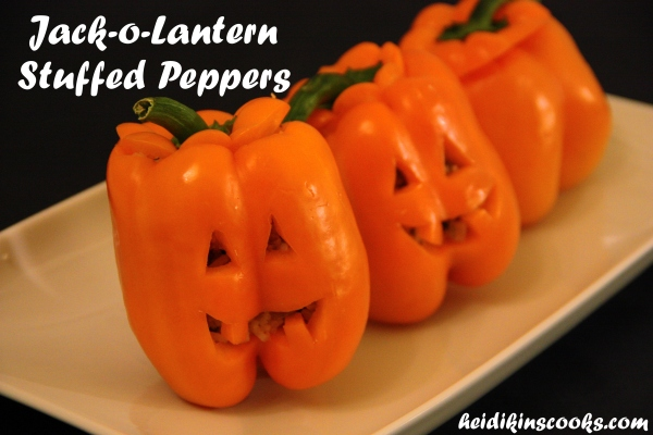 Jack-o-Lantern Stuffed Peppers_heidikinscooks_October 2013