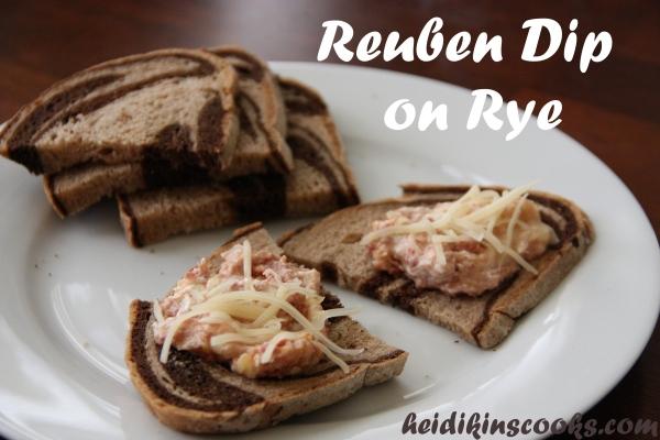 Reuben Dip on Rye_heidikinscooks_October 2013