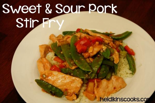 SweetSour Pork Stir Fry_heidikinscooks_Dec 2013