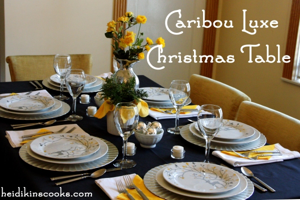 Tablescape Christmas Pottery Barn Caribou Luxe 10_heidikinscooks_Dec 2013