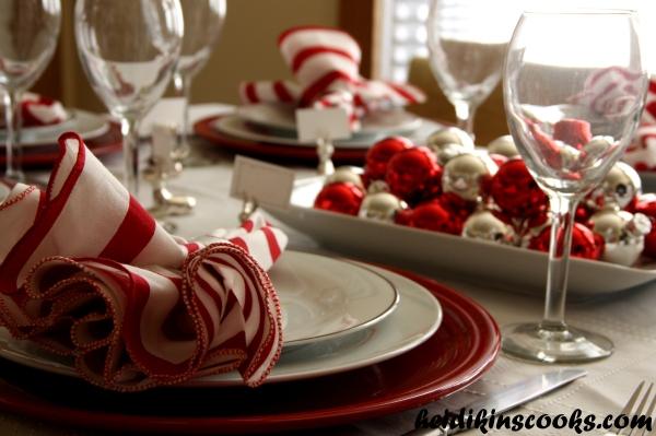Tablescape_ Christmas Pottery Barn Reindeer plates 2_heidikinscooks_Dec 2013