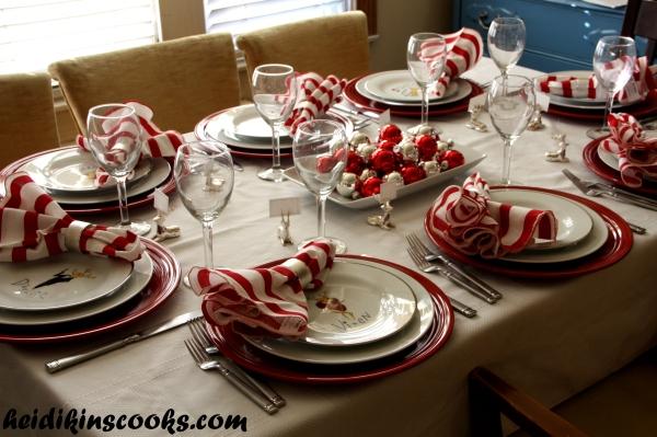 Tablescape_Christmas Pottery Barn Reindeer Plates 12_heidikinscooks_ Dec 2013