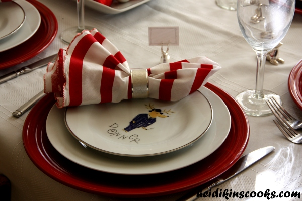 Tablescape_Christmas Pottery Barn Reindeer Plates 13_heidikinscooks_Dec 2013