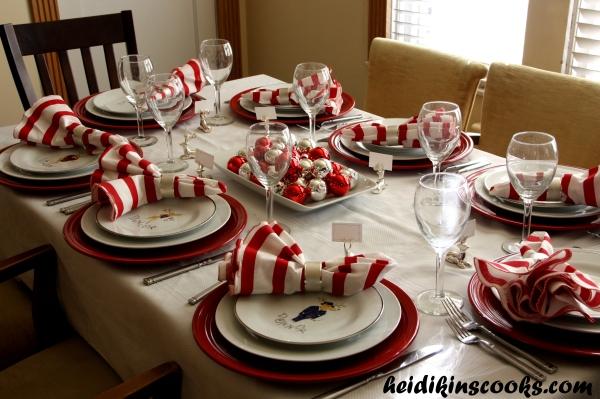 Tablescape_Christmas Pottery Barn Reindeer Plates 15_heidikinscooks_Dec 2013