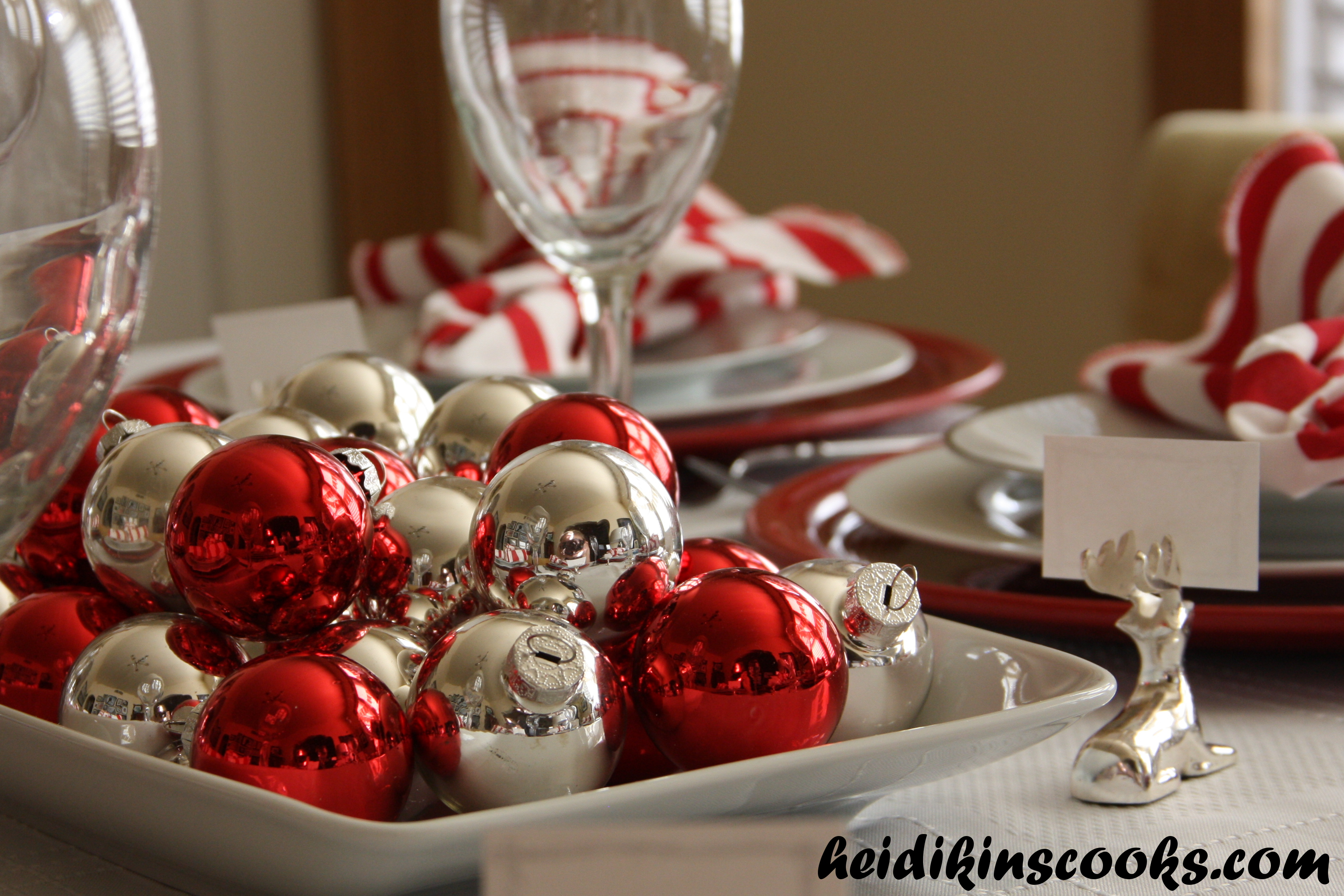 Setting a Christmas Table with Pottery Barn Reindeer Plates ...