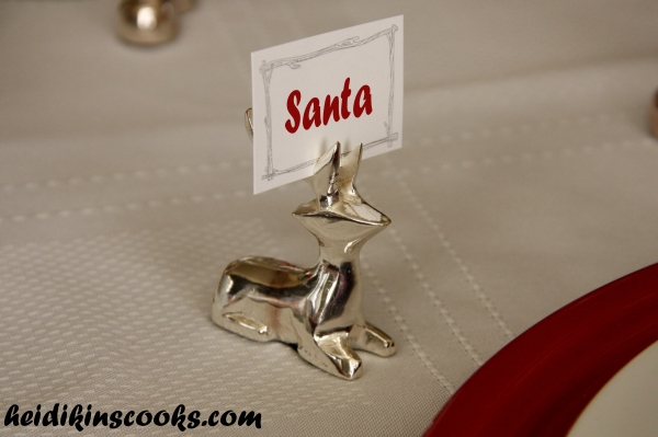 Tablescape_Christmas Reindeer Placeholder_heidikinscooks_Dec 2013