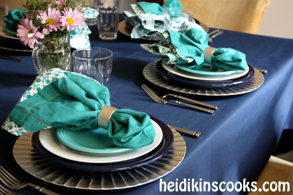 Everyday Table Setting_Cobalt Turquoise Fiestaware 10_heidikinscooks_Jan 2014