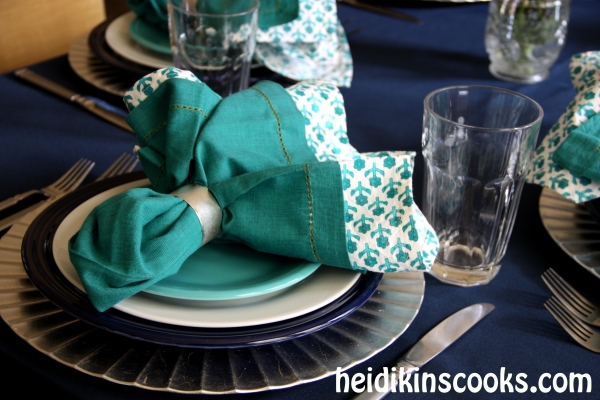 Everyday Table Setting_Cobalt Turquoise Fiestaware 12_heidikinscooks_Jan 2014