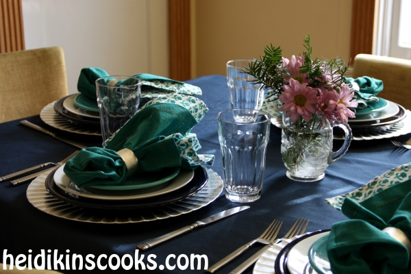 Everyday Table Setting_Cobalt Turquoise Fiestaware 13_heidikinscooks_Jan 2014