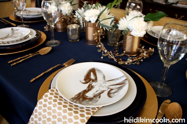 Tablescape Navy Gold_Antlers Plates 12_heidikinscooks_Jan 2104