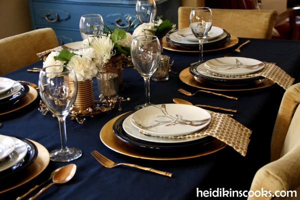 Tablescape Navy Gold_Antlers Plates10_heidikinscooks_Jan 2014