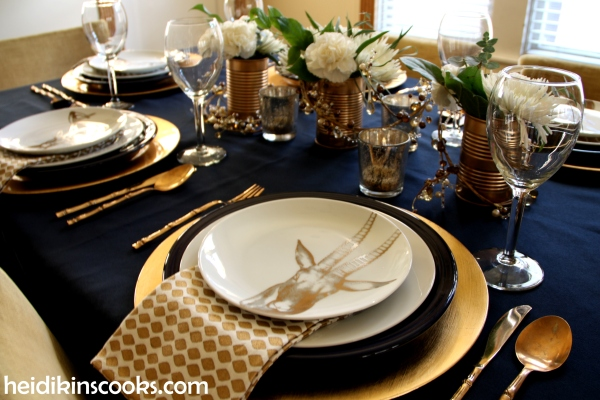 Tablescape Navy Gold_Antlers Plates11_heidikinscooks_Jan 2014
