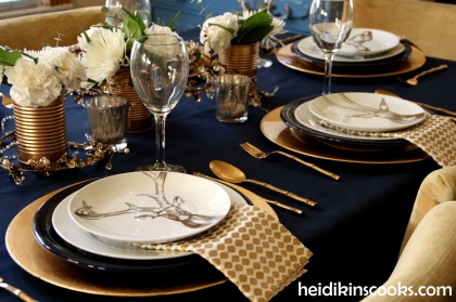 Tablescape Navy Gold_Antlers Plates7_heidikinscooks_Jan 2014
