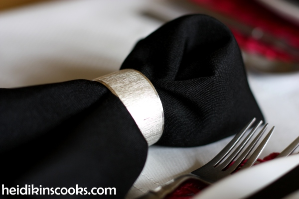 Valentines Table Setting_Black White Stripe with Hot Pink 1_heidikinscooks_Feb 2014