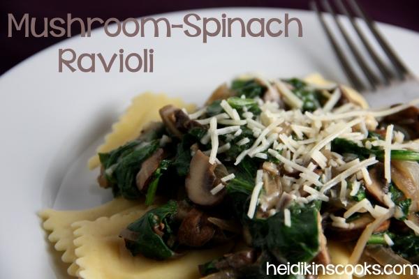 Mushroom-spinach ravioli_heidikinscooks_May 2014