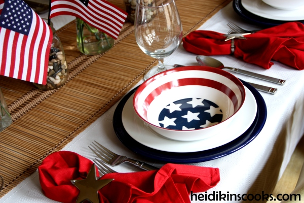 4th July Patriotic Pfaltzgraff Tablescape 11_heidikinscooks_June 2014