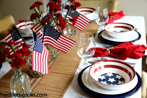 4th July Patriotic Pfaltzgraff Tablescape 12_heidikinscooks_June 2014