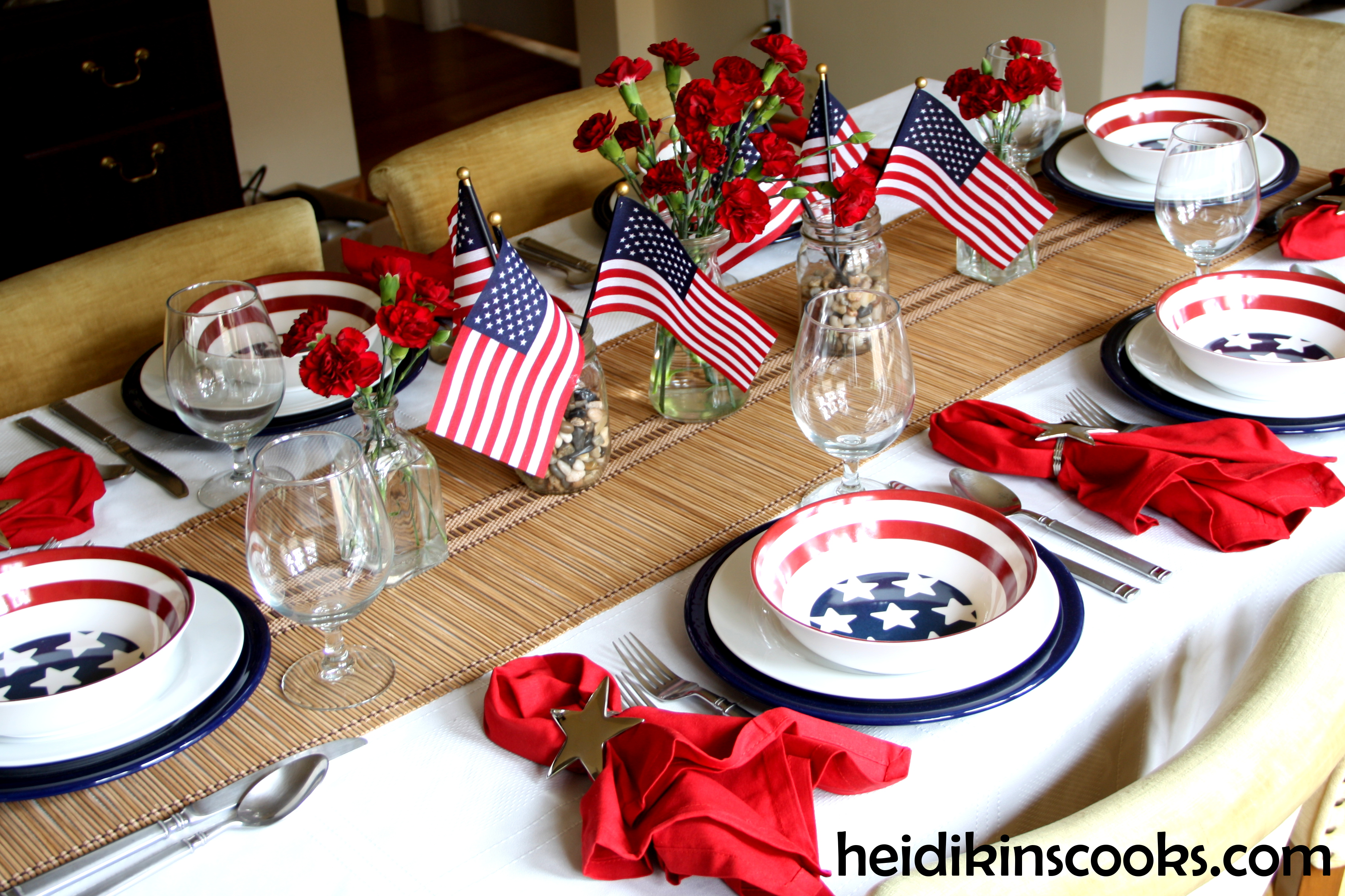 Setting A Stars And Stripes Table Heidikins Cooks