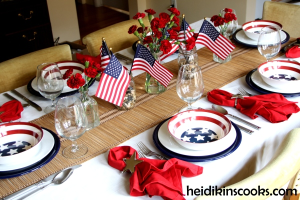 4th July Patriotic Pfaltzgraff Tablescape 15_heidikinscooks_June 2014