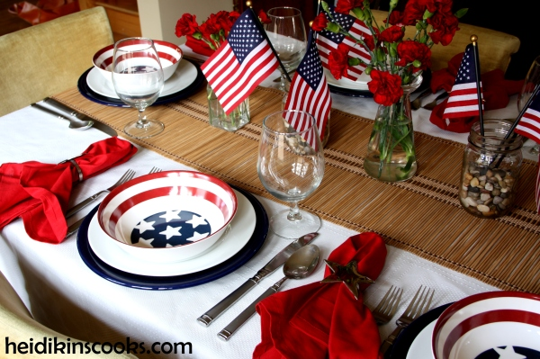 4th July Patriotic Pfaltzgraff Tablescape 3_heidikinscooks_June 2014