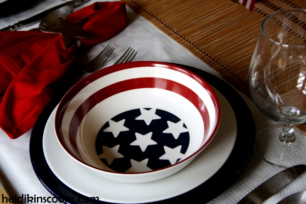 4th July Patriotic Pfaltzgraff Tablescape 5_heidikinscooks_June 2014