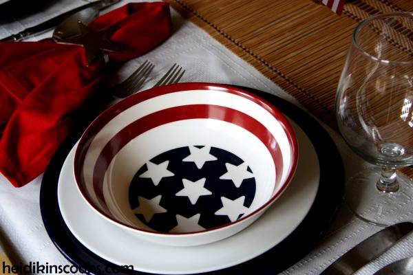 4th July Patriotic Pfaltzgraff Tablescape 5_heidikinscooks_June 2014