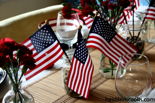 4th July Patriotic Pfaltzgraff Tablescape 7_heidikinscooks_June 2014