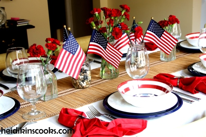 4th July Patriotic Pfaltzgraff Tablescape 9_heidikinscooks_June 2014
