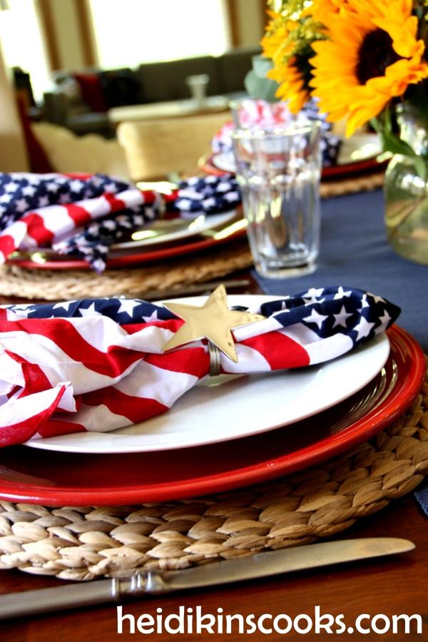 4th July Patriotic Tablescape 10_heidikinscooks_June 2014
