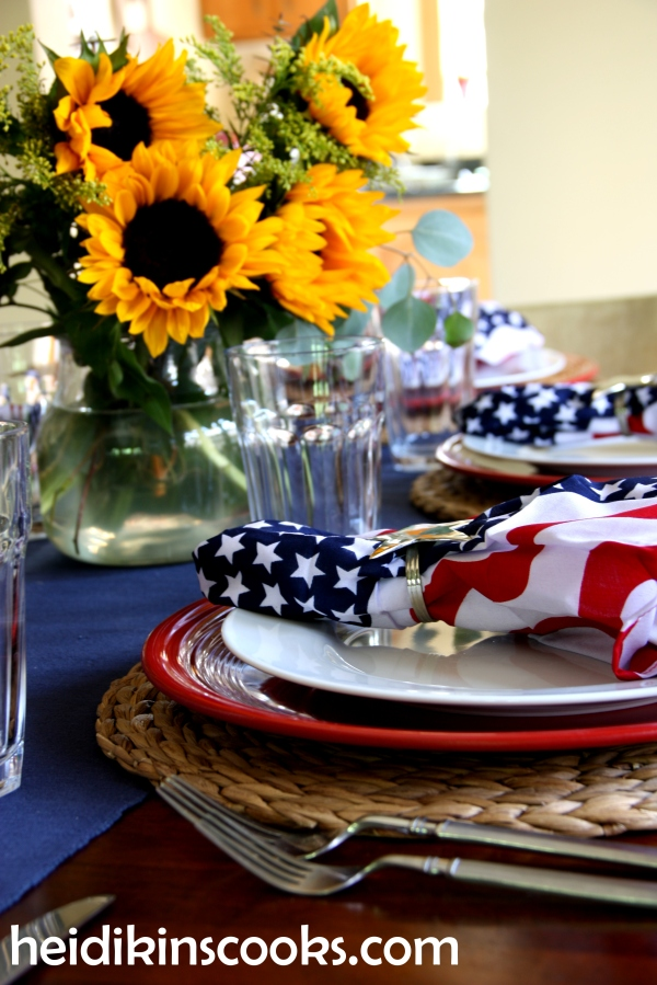 4th July Patriotic Tablescape 3_heidikinscooks_June 2014