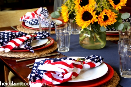 4th July Patriotic Tablescape 4_heidikinscooks_June 2014