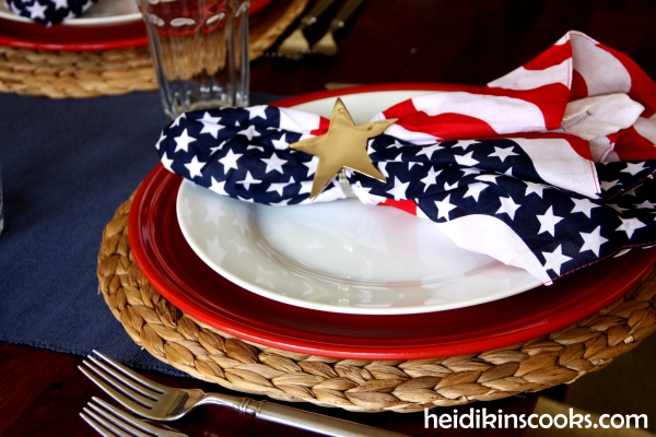 4th July Patriotic Tablescape 5_heidikinscooks_June 2014