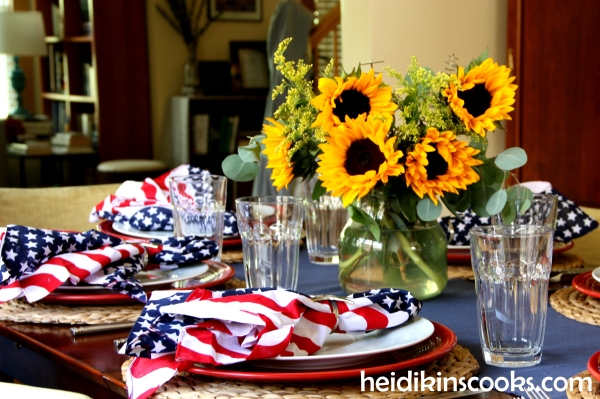 4th July Patriotic Tablescape 7_heidikinscooks_June 2014