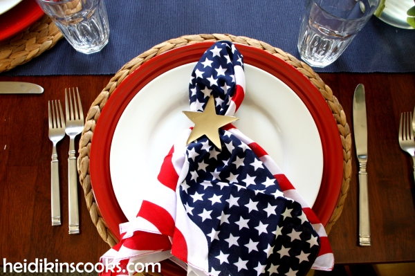 4th July Patriotic Tablescape 9_heidikinscooks_June 2014