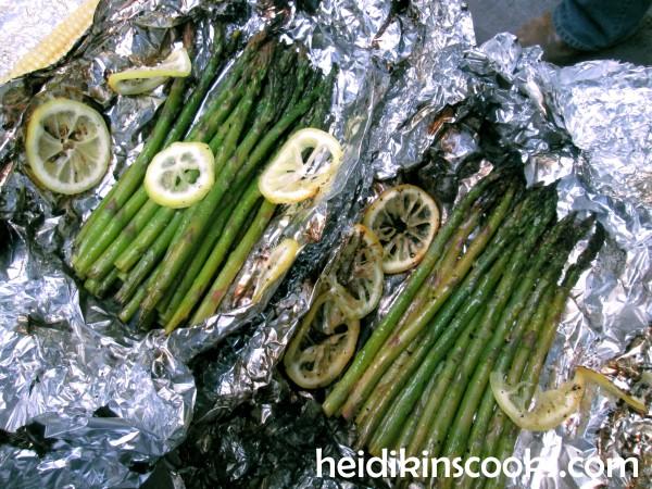 Gourmet Tin Foil Dinner Roasted Asparagus 2_heidikinscooks_June 2014