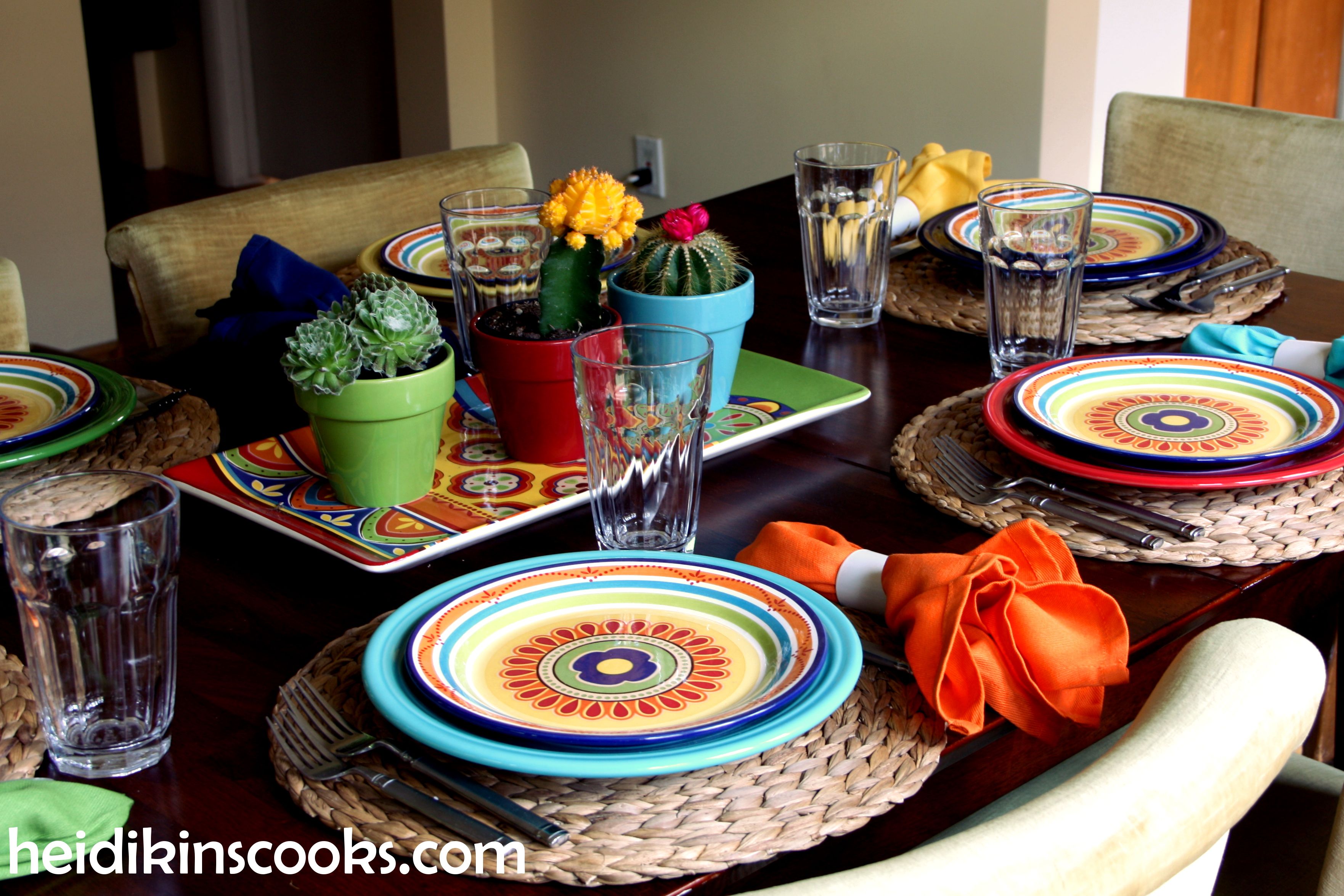 Mexicali Pier 1 Fiesta Fiestaware Tablescape 11_heidikinscooks_June 2014 & Setting the Table for a Fiesta! | heidikins cooks