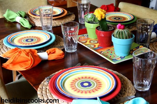 Mexicali Pier 1 Fiesta Fiestaware Tablescape 2_heidikinscooks_June 2014