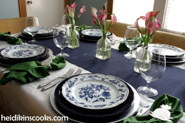 heidikinscooks_Blue Danube Fiesta table setting tablescape_january 2015 (1)