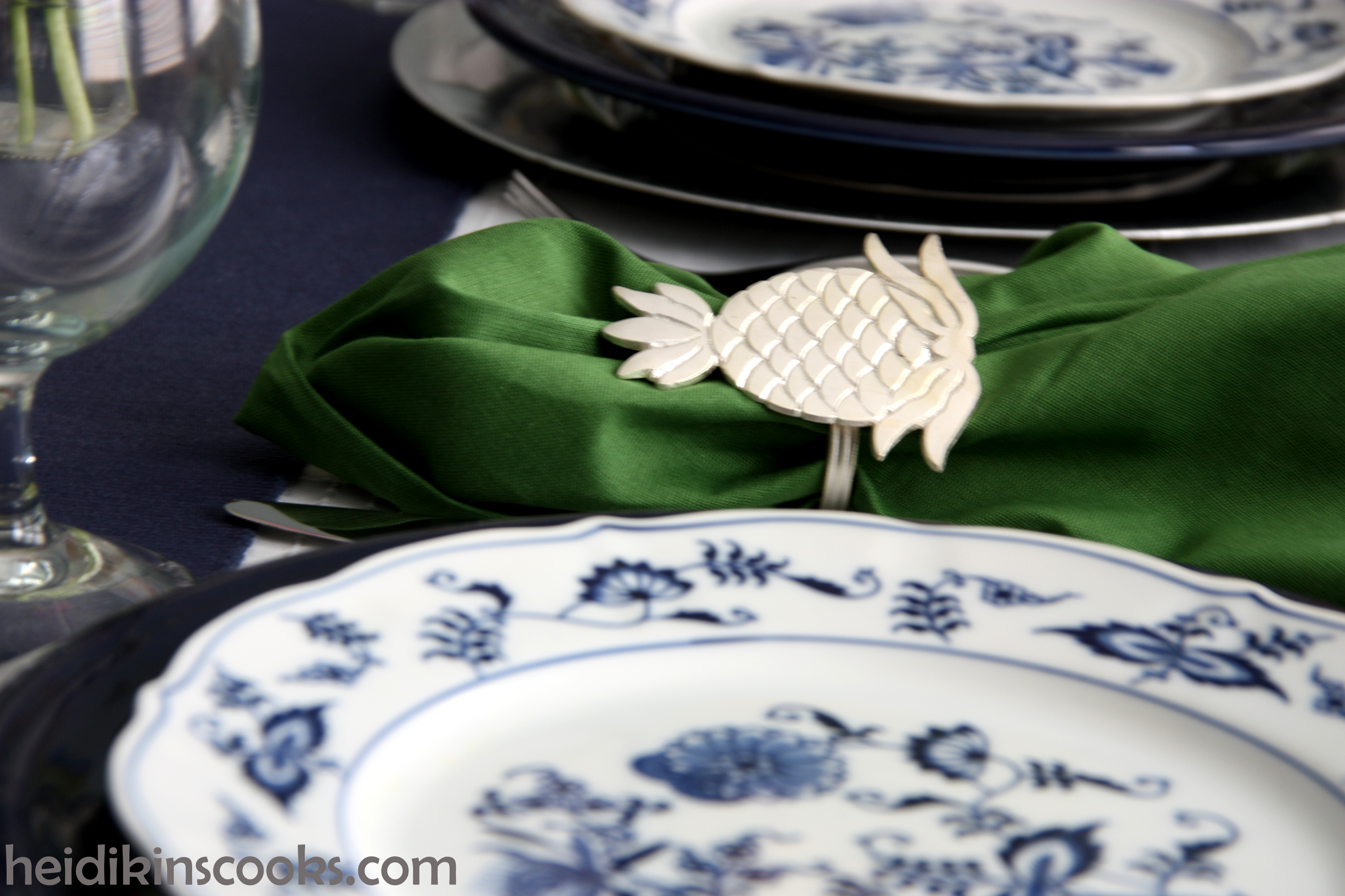 heidikinscooks_Blue Danube Fiesta table setting tablescape_january 2015 (6) & Blue Danube Table Setting | heidikins cooks